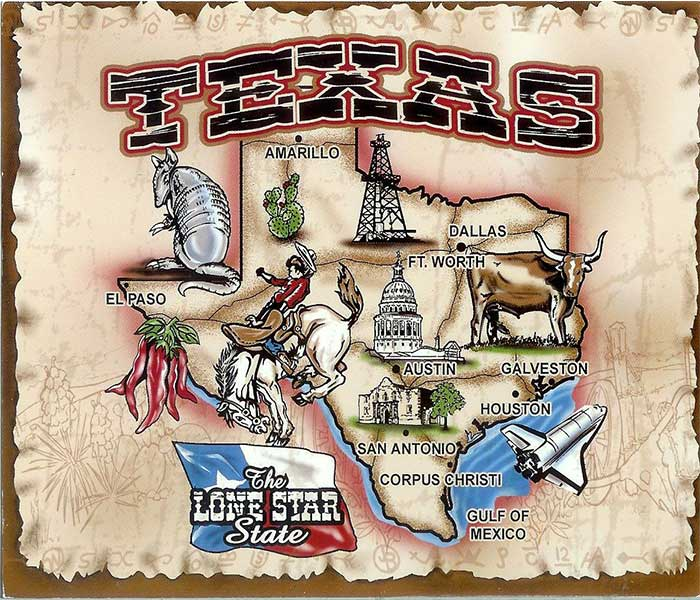 USA Texas Map